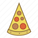 fast, food, italian, piece, pizza, slice, snack icon