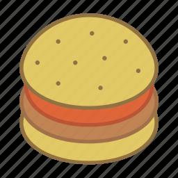 burger, fast, food, hamburger icon