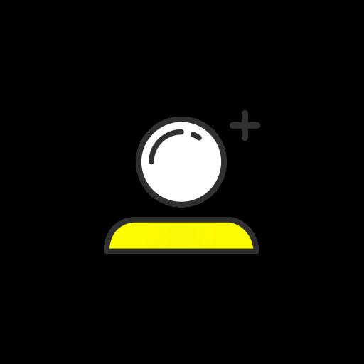 add user, friend request, profile, snapchat icon