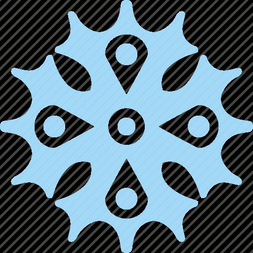 frost, ice, snow, snowflake icon