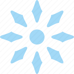 frost, ice, snow, snowflake, star icon