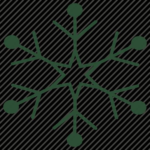 christmas, flake, freeze, ice, snow, snowflake, winter icon