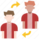 avatar, football, people, player, soccer, sport, substitution icon