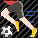 activity, football, player, running, soccer, sport