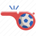 equipment, football, referee, soccer, whistle
