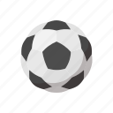 ball, cartoon, equipment, soccer, soccer ball, sphere, white icon