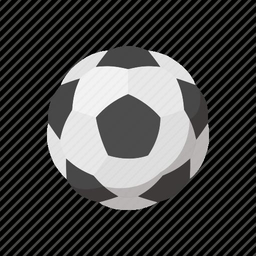 ball, cartoon, equipment, soccer, soccer ball, sphere, white icon