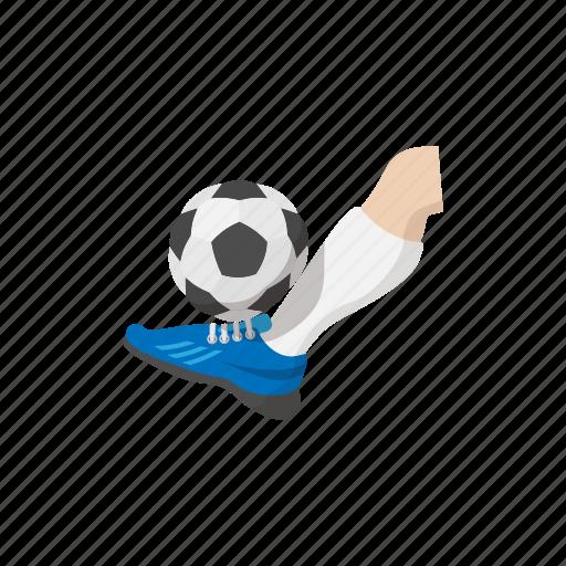 activity, ball, cartoon, foot, kick, sign, soccer icon