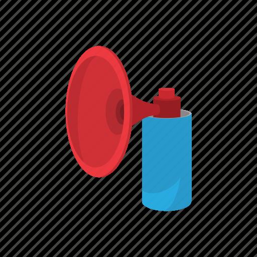 cartoon, fan, herald, horn, pipe, toot, vuvuzela icon