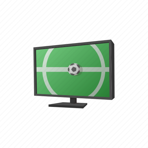 ball, cartoon, game, grass, led, screen, wide icon
