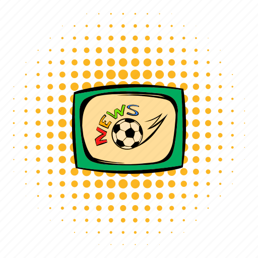 comics, design, football, halftone, monitor, news, tv icon