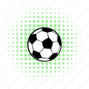 ball, comics, football, halftone, play, soccer, sport icon