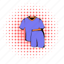 comics, football, halftone, purple, red, sport, uniform icon