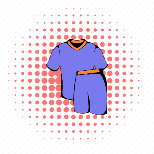 comics, football, halftone, purple, red, sport, uniform icon