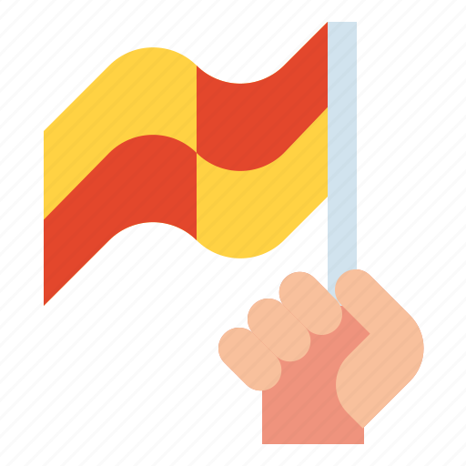 flag, foul, offside, referee, rules icon