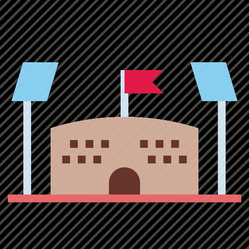architecture, building, construction, field, soccer, stadium icon