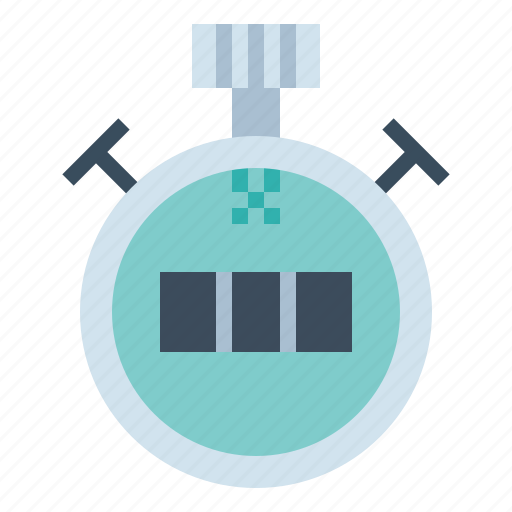 chronometer, clock, stopwatch, timer icon