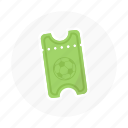 football, game, soccer, soccer ticket, sport ticket, ticket, tickets icon