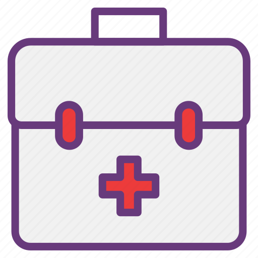 box, equipment, first aid, medical, mobile, pharmacy, tool box icon