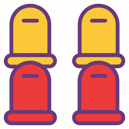 alert, attention, barrier, hurdle, red, yellow icon