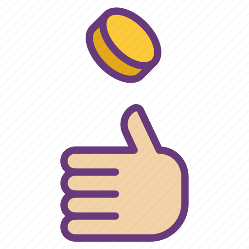 coin, decision, game, management, money, toss, turn icon