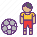 avatar, ball, game, goal, play ground, player, start icon