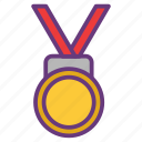award, badge, medal, prize, reward, victory, winner icon