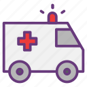 ambulance, emergency, hospital, medical, patient, pharmacy, vehicle icon