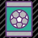 data visualization, gadget, mobile app, smart phone, equipment, soccer, tool