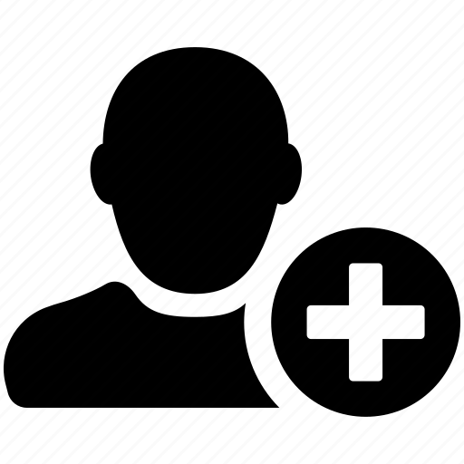 add, avatar, man, new, person, user icon
