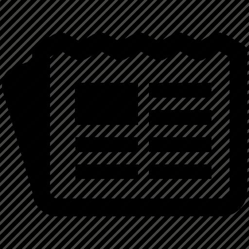 blog, feed, media, news, newspaper icon