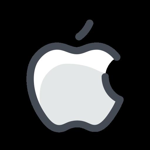 apple, device, media, social, web icon