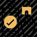 fingerprint, identity, prove, smartphone, verify icon