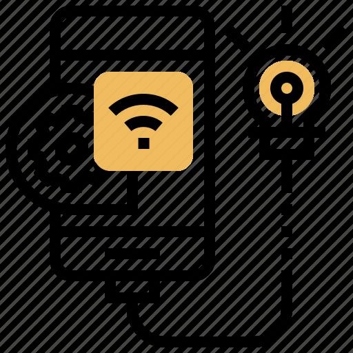 ideas, innovation, online, sharing, smartphone icon