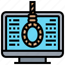 computer, cyber, program, robbery, technology icon