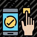 fingerprint, identity, prove, smartphone, verify