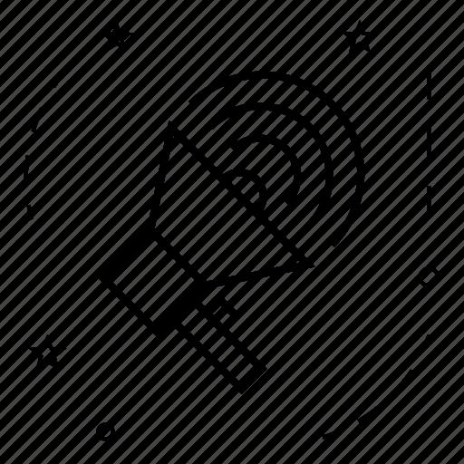 bullhorn, connections, internet, megaphone, mouthpiece, network, social icon