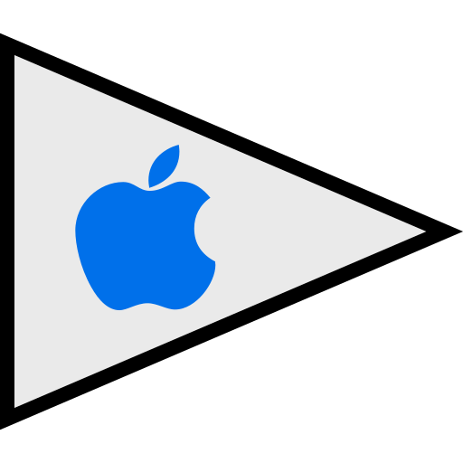 apple, flags, logo, social icon