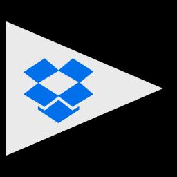 dropbox, flags, logo, social icon