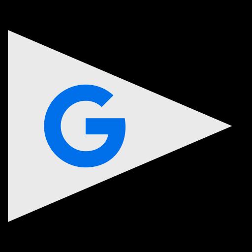flags, google, logo, social icon
