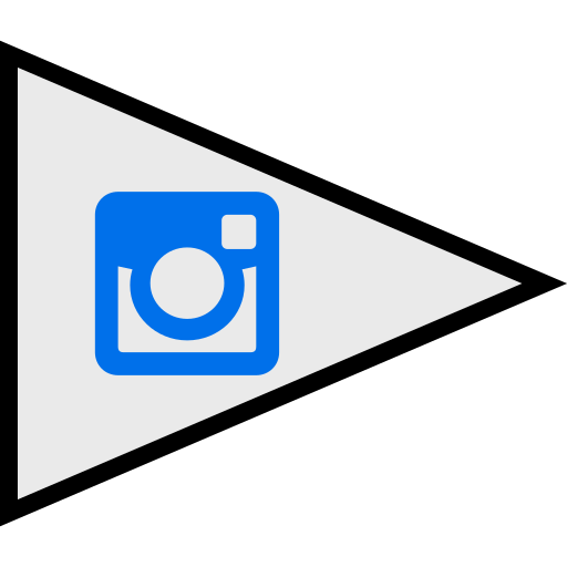 flags, instagram, logo, social icon