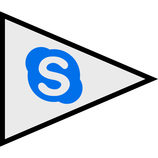 flags, logo, skype, social icon