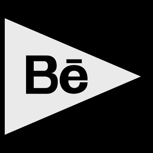 behance, flags, logo, social icon