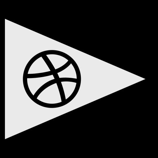 dribbble, flags, logo, social icon
