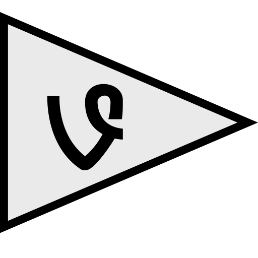 flags, logo, social, vine icon