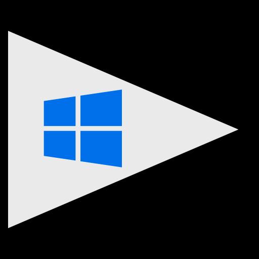 flags, logo, social, windows icon