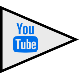 flags, logo, social, youtube icon