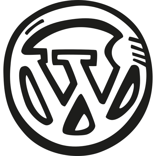 doodle, hand drawn, sketch, social, wordpress icon