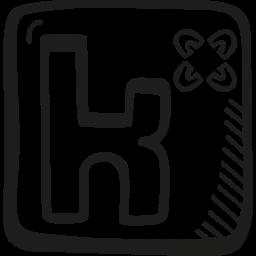 doodle, hand drawn, kununu, sketch, social icon