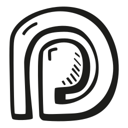 hand drawn, outline, patreon, social, social media, social media icons icon